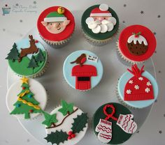 Christmas Cupcakes by The Clever Little Cupcake Company (Amanda), via Flickr
