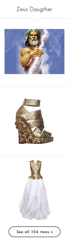 """Zeus Daugther"" by bubble-star ❤ liked on Polyvore featuring greek, mythology, zues, shoes, sandals, heels, wedges, nicholas kirkwood, nicholas kirkwood sandals and wedge heel shoes"