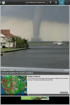 Pix from weatherbug app (Theriot LA)