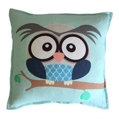 Boy owl scatter cushion from Ruby & Me