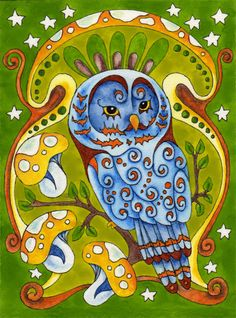 'Wisdom Owl' by Amy Weber