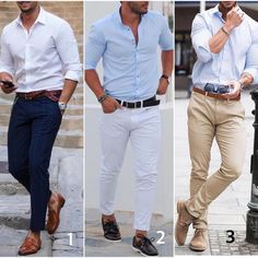 or Which casual is your favorite. alles für Ihren Stil - www. Casual Outfits, Men Casual, Fashion Outfits, Casual Styles, Big Men Fashion, Womens Fashion, Terno Slim, Mode Man, Style Masculin