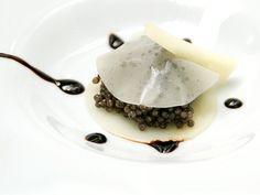 Caviar con manto de mozarella