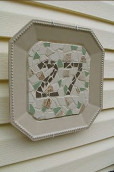 found my house number idea! 12 Days Of Christmas, Christmas Crafts, Home Crafts, Diy And Crafts, Mosaic Madness, When I Grow Up, House Numbers, Letters And Numbers, Garden Art