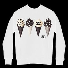 Chanel Ice Cream Cone Tshirt by THECOUTURECLOSETNYC on Etsy, $40.00
