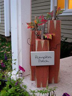 4 x 4 wood pumpkins