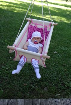 Items Similar To Organic Baby Swing Indoor Outdoor Canvas And Toddler With Cushion Pink
