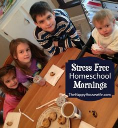 Find out how to have Stress Free Homeschool Mornings with these helpful tips! | The Happy Housewife