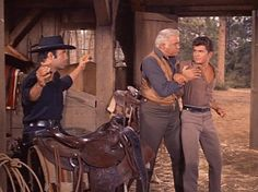 """Adam is waxing his saddle when Little Joe enters the barn. Joe is smitten with a southern belle who is the daughter of a confederate sympathizer, and Adam disapproves, which Joe senses. """"Why don't you come out with what you're really thinking?"""" Little Joe demands. Adam casts him a sideways glance. """"Well, that could be a dangerous request."""" When Adam finally voices his opinion, Little Joe becomes riled and Ben has to restrain him from punching Adam. From The War Comes to Washoe (Bonanza)"""