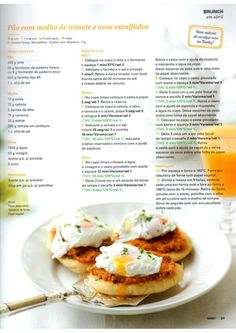 Revista Bimby - Abril 2015 Brunch, Healthy Cooking, Healthy Recipes, Multicooker, Happy Foods, Perfect Food, Wine Recipes, Food Inspiration, Food And Drink