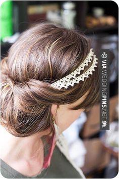 chignon Cute headband and hair style tutorial Braids. Hairstyles for medium hair tutorial Holiday Hairstyles, Up Hairstyles, Pretty Hairstyles, Wedding Hairstyles, Wedding Updo, Diy Wedding, Headband Hairstyles, Hairstyle Ideas, Bridal Updo