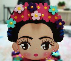 Frida Kids Crafts, Foam Crafts, Diy And Crafts, Arts And Crafts, Homemade Gifts, Diy Gifts, Diy Y Manualidades, Mexican Crafts, Polymer Clay Dolls