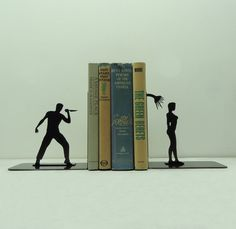 Shower Scene Metal Art Bookends  Free USA by KnobCreekMetalArts, $49.99. I couldn't choose which of these I like best!