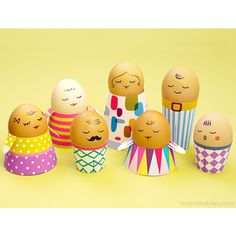 Easter Egg People Templates  #Free #Easter #printable