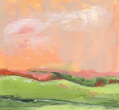 Original Acrylic Painting Abstract Landscape by NikiArdenFineArt, $50.00