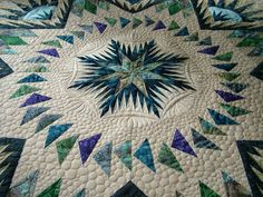 Blue and white quilting
