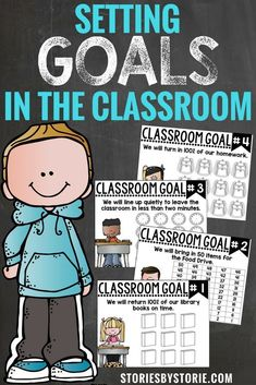 Goals help set a purpose and a direction for where you are headed.  While you are building your classroom community, why not take the time to make some common goals that EVERY student in your classroom can work towards?  Here's a little glimpse into how I