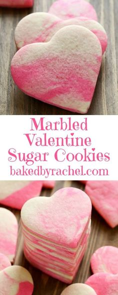 40 Easy Valentines Day Cookies: Adorable Sweets - The Daily Spice - Jamie Cash Duncan - 40 Easy Valentines Day Cookies: Adorable Sweets - The Daily Spice Easy Valentines Day Cookies: Marbled Valentine Sugar Cookies - Valentine Desserts, Valentines Day Cookies, Valentine Sugar Cookie Recipe, Valentines Day Treats, Holiday Treats, Holiday Recipes, Valentines Baking, Valentines Recipes, Valentine Cupcakes