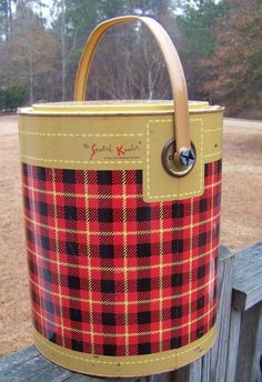 plaid cooler