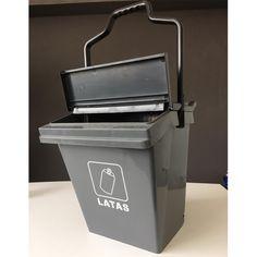 Contenedor de residuos con ruedas Easy Trolley, con estampado para la separación de latas. Compost, Easy, Waste Container, Recycling Bins, Wheels, Tin Cans, Composters