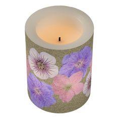Floral Mix Botanical Garden Worn Led Candle