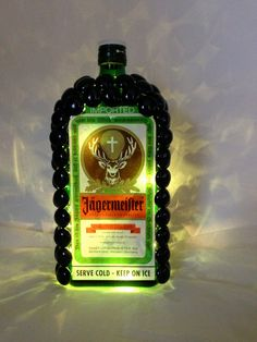 Jagermeister Liquor Bottle Light by SweetBebes on Etsy, I am so making this!