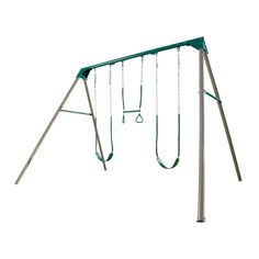 Your kids will love playing outdoors with the Lifetime A-Frame Swing Set. The swing set is an excellent blend of both fun and learning. It also offers multiple activities and keeps your child fit and healthy.<br/><br/>The A-Frame Swing Set by Lifetime is constructed from powder-coated steel and polyethylene plastic that ensures years of reliable use. Available in multiple finishes, the swing set maintains a playful and cheerful mood in the house. The set has two swings and a trapeze that…