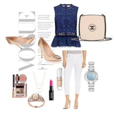 """Vogue Girl"" by silvia-viotti on Polyvore featuring moda, Manolo Blahnik, ERTH, Charlotte Tilbury, NYX, Marc Jacobs, Beija Flor, Sea, New York, Citizen e Effy Jewelry"