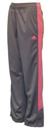 """Adidas Women's Mystify LT Qtr Warm Up Pants-Dark Gray/Gray/Pink-Large by adidas. $32.98. polyester. Adidas Women's Mystify LT Qtr Warm Up Pants-Dark Gray/Gray/PinkItem FeaturesElastic Waistband with DrawstringTwo Side Pockets Ventilation down sidesButton Leg OpeningAdidas symbol on thighPink Trademark Stripes down sides100% PolyesterMeasurements - taken with Pants lying flatInseam: 30"""""""