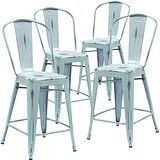 """Amazon.com - Flash Furniture High Distressed Metal Indoor Counter Height Stool (4 Pack), 24"""", Copper -"""