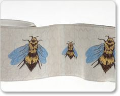 Yellow and Blue Big Bumble Bee Ribbon - Laura Foster Nicholson