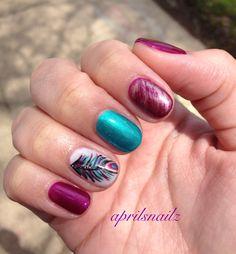 Shellac nails. Shellac nail art. Shellac nails designs. multi color