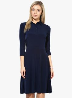 Buy Avirate Navy Blue Colored Solid Shift Dress for Women Online India, Best Prices, Reviews | AV510WA27CBCINDFAS