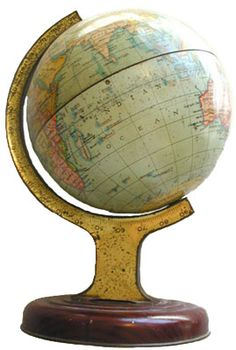 British Biscuit Tins - It's difficult enough to just find a globe, one that's a biscuit tin? Wow.