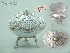 Ostrich egg jewelry box