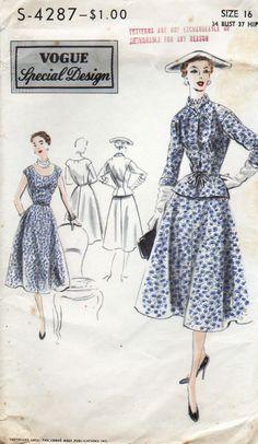 VSD S-4287 Dress & Jacket 1952 B34 complete unused Unprinted FF nsld? 34.99+2.24 6/13/15