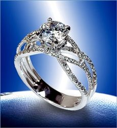 """Mark Silverstein Diamond Engagement Rings - white gold <3 This is designed around the verse Ecclesiastes 4:12 - """"A cord of three strands is not easily broken."""" God, Husband, and Wife...I LOVE the ring, but the meaning behind it is what makes it amazing!"""