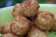 Delicious ham and parmesan cheese croquettes made with the Andean grain quinoa.