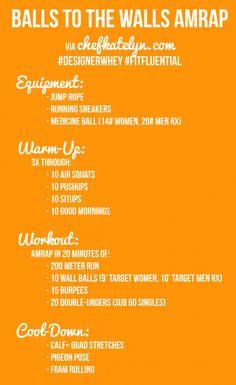 Balls to the Walls AMRAP #DesignerWhey #FitFluential #workout