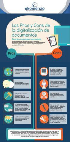 Digitalización de documentos: pros y contras #infografia #infographic | TICs y Formación