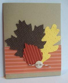 Stampin Up handmade greeting card fall leaves birthday thanksgiving thanks PYLOT   eBay