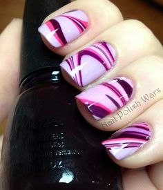 Cool water marbled nails