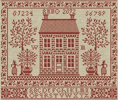 Home Sweet Home - PDF cross-stitch pattern. $8.50, via Etsy.