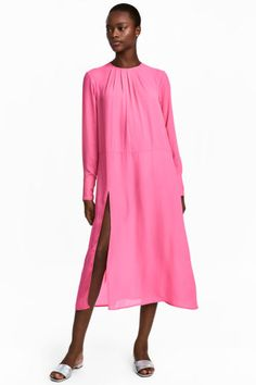 Wide dress - Pink - Ladies | H&M GB