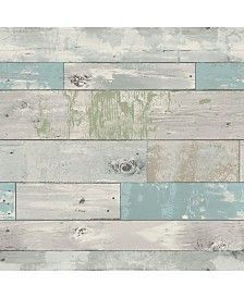 Brewster Home Fashions Beachwood Peel And Stick Wallpaper Diseno Rustico Bano De Lavanderia Decoraciones De Cuartos