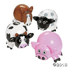 These Inflatable Farm Characters are perfect for your life on the farm lessons! Includes sheep, pig, cow and horse characters. Find even more inflates on our . 2nd Birthday Party For Girl, Rodeo Birthday, Pig Birthday, Farm Birthday Cakes, Birthday Ideas, Birthday Banners, Birthday Invitations, Farm Animal Party, Farm Animal Birthday