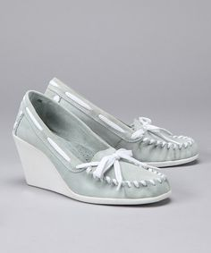 Dirty Laundry by Chinese Laundry-Light Blue Tide Split Suede Wedge