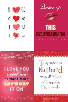 A sample of four designs from our Valentine's Day collection