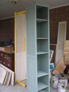 Bifold Door Shelf. Great for homeschool area!