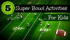 5 super bowl activities for kids. super bowl activities for kids. Montessori Activities, Activities To Do, Children Activities, Video Games For Kids, Kids Videos, Super Bowl Activities, Earth To Echo, Kids Sports, Kids Football